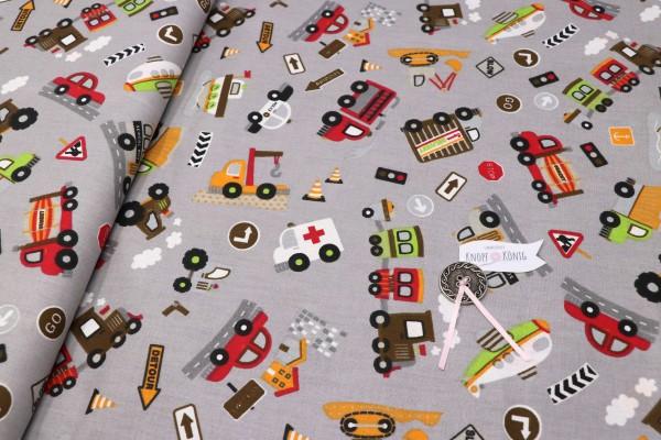 Baumwollstoff Fahrzeuge