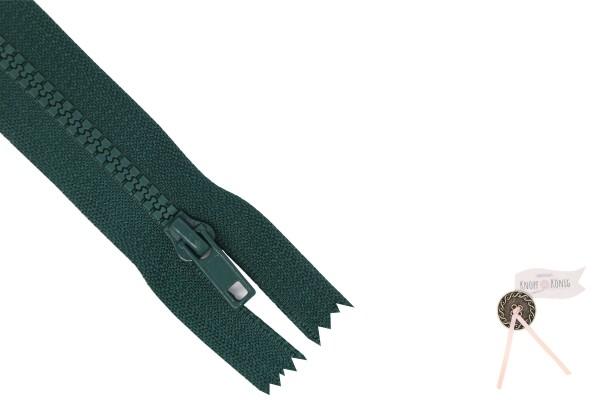 Jackenzipp Dekor tannengrün, Kunststoff 6mm