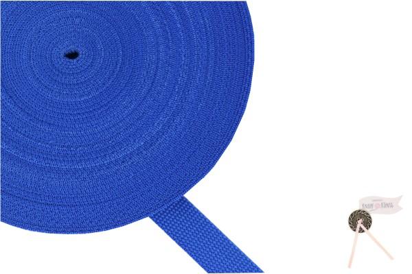Gurtband Nylon blitzblau, 20mm