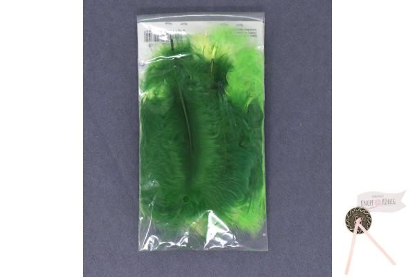 Marabufedern-Mix 10cm, gelb-grün