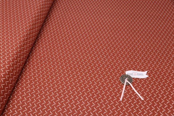 Baumwollstoff terra mit weißen Strichen