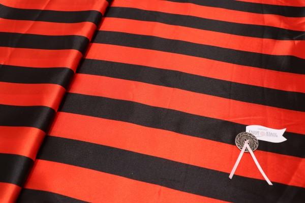Faschingsstoff, rot mit schwarzen Streifen