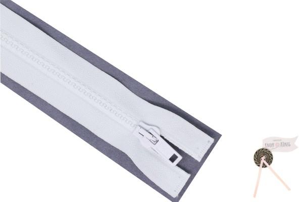 Jackenzipp Dekor weiß, Kunststoff 6mm