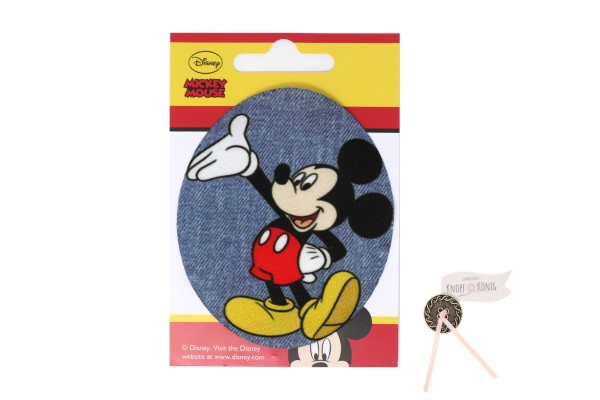 Applikation Mickey-Mouse oval, 9cm
