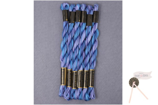 Perlgarn Nr. 5, blau-violett-meliert