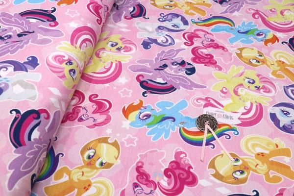 Baumwoll-Jersey rosa, my little Pony
