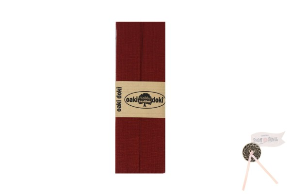 Jersey-Schrägband ziegelrot, 3m