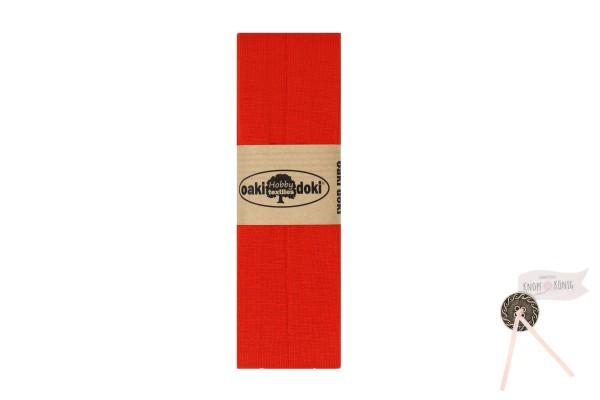 Jersey-Schrägband orangerot, 3m