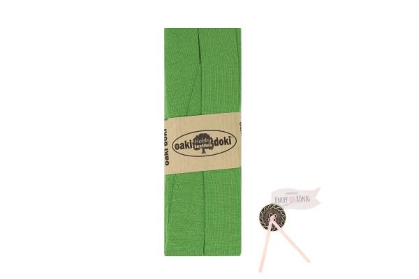 Jersey-Schrägband grasgrün, 3m