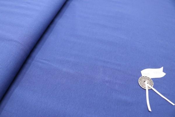 Baumwoll-Jersey royalblau