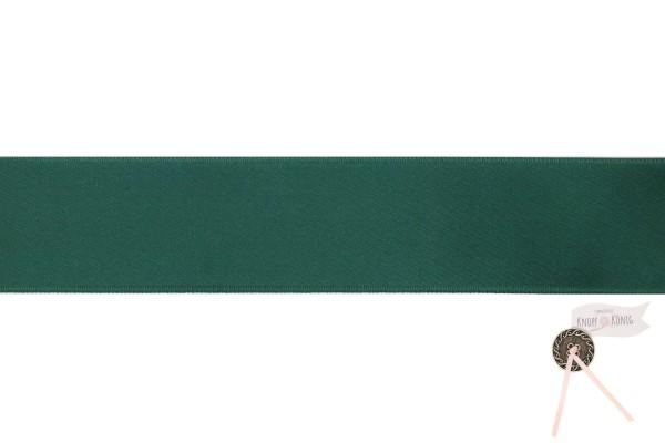 Satinband doppelseitig dunkelgrün, 25mm