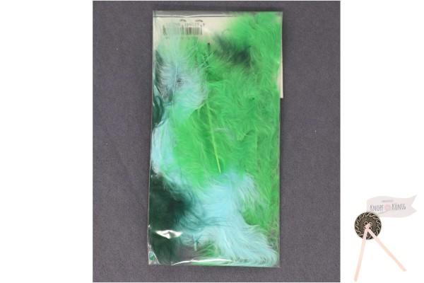 Marabufedern-Mix 9cm, blau-grün