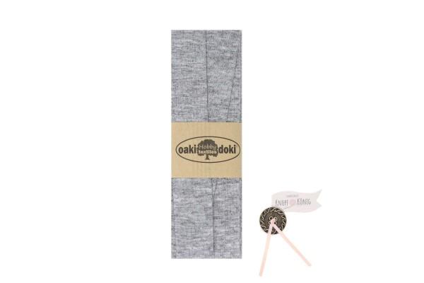 Jersey-Schrägband hellgrau, 3m