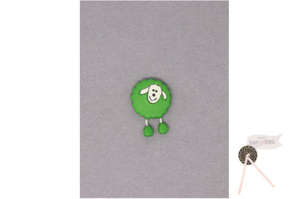 Kinderknopf Schaf, 18mm grasgrün