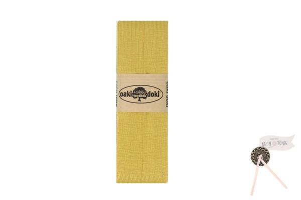 Jersey-Schrägband ocker, 3m