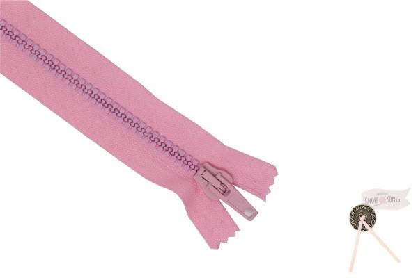Jackenzipp Dekor rosa, Kunststoff 6mm