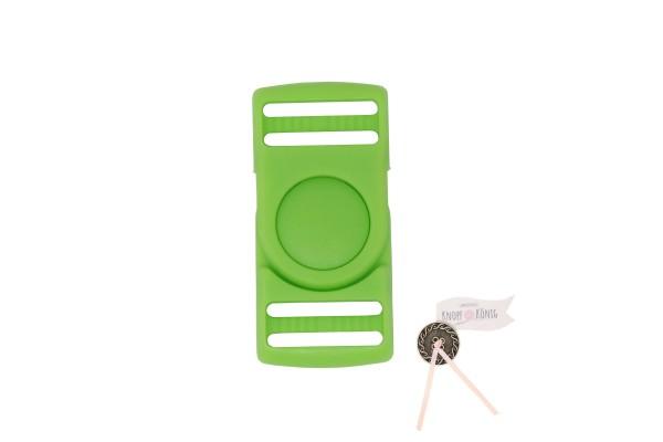 Steckschnalle grasgrün, 25mm drehbar