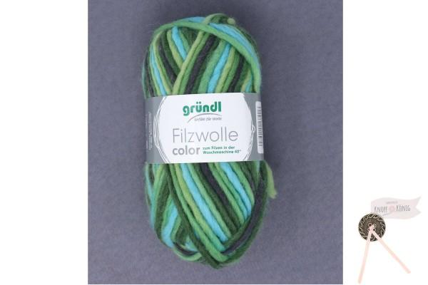 Filzwolle color, grün-schwarz multicolor