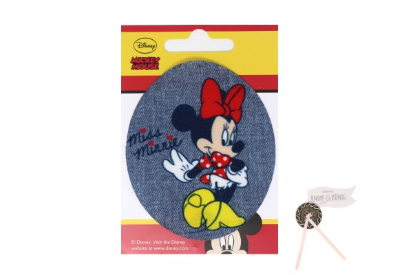 Applikation Minnie-Mouse oval, 9cm