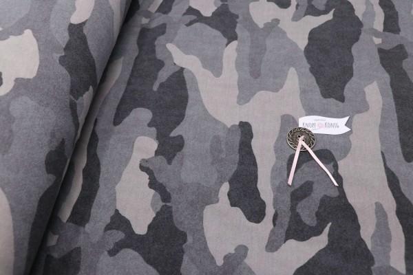 Sweat Shirt Camouflage grau