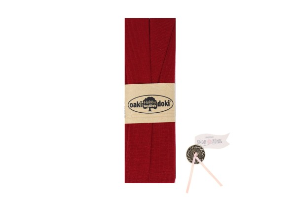 Jersey-Schrägband rot, 3m