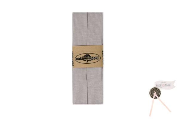 Jersey-Schrägband silbergrau, 3m