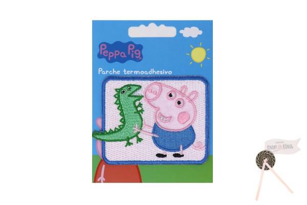 Applikation Peppa Pig mit George, 7x6cm