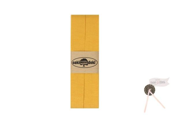 Jersey-Schrägband gelb, 3m