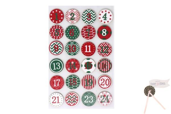Rahyer Adventkalenderzahlen rund