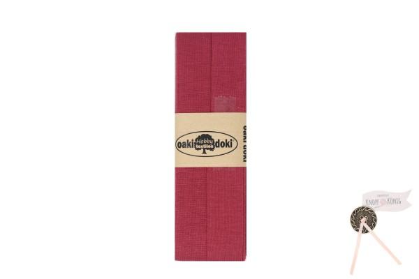 Jersey-Schrägband marsala, 3m