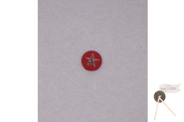 Kinderknopf Stern, 15mm rot