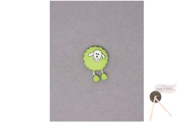 Kinderknopf Schaf, 18mm hellgrün