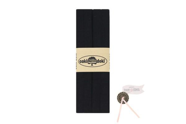 Jersey-Schrägband schwarz, 3m