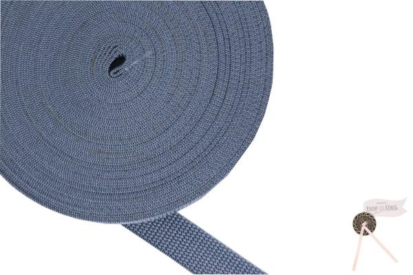 Gurtband Nylon grau, 20mm