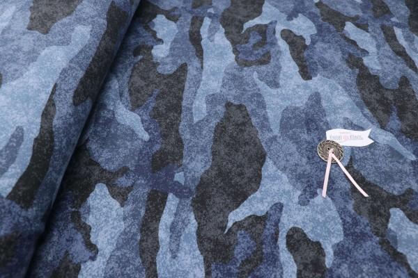 Sweat Shirt Camouflage blau