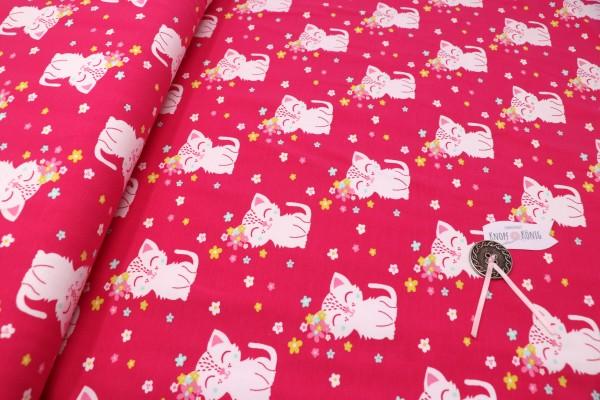 Sommersweat pink mit Kätzchen