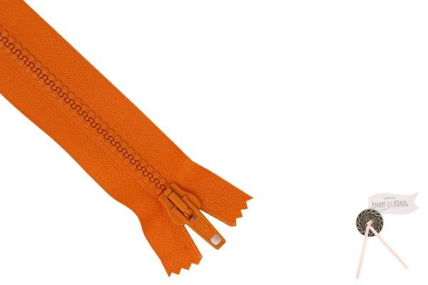 Jackenzipp Dekor orange, Kunststoff 6mm