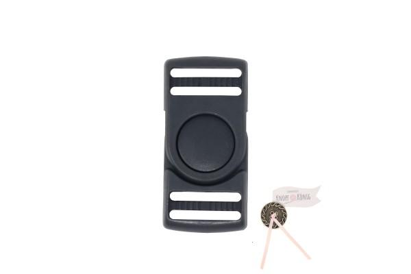 Steckschnalle dunkelgrau, 25mm drehbar