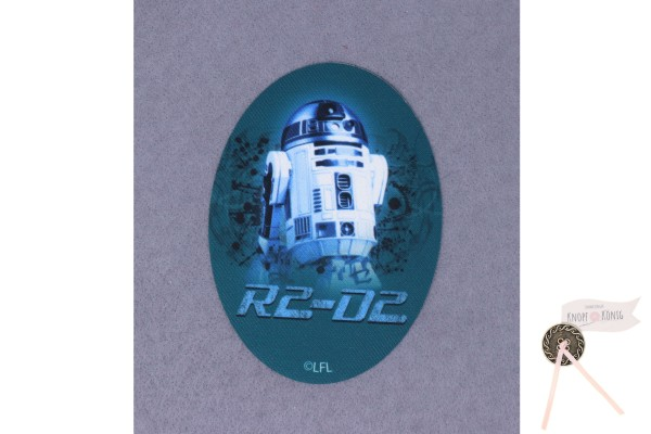 Applikation Star Wars R2-D2, zum Aufbügeln, 11x8cm