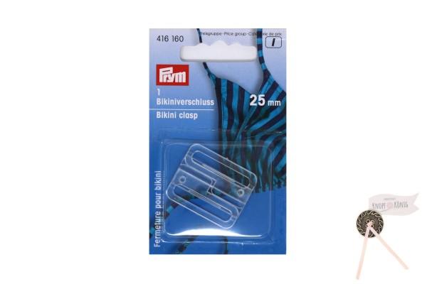 Bikiniverschluss transparent, 25mm