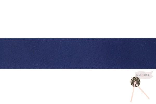 Satinband doppelseitig dunkelblau, verschiedene Breiten