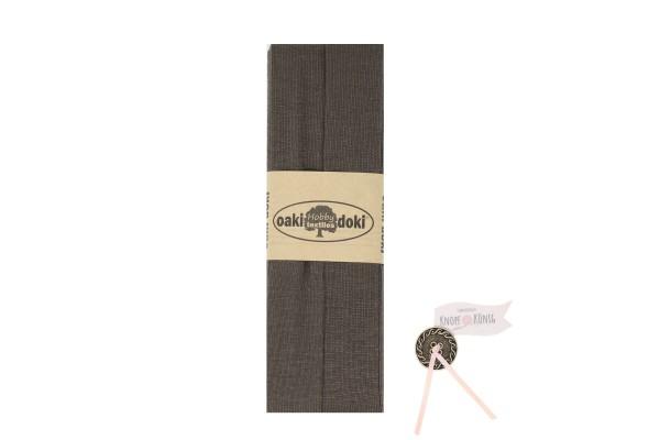Jersey-Schrägband braun, 3m
